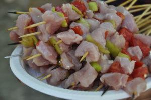 recette brochette de dinde à la pêche au barbecue