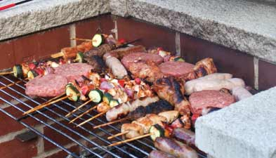 barbecue fixe en pierre