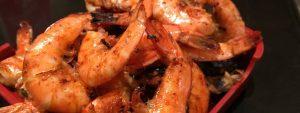 crevettes au chorizo au barbecue
