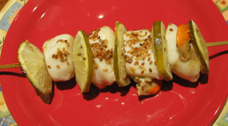 recette brochette de noix de saint jacques au barbecue