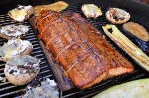 recette roulée de saumon fumée au barbecue
