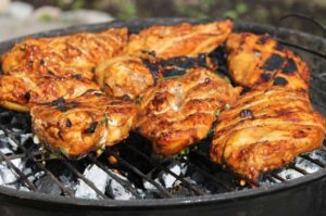recette poulet sauce romarin au barbecue