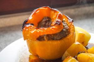 recette poivron farci au boeuf au barbecue