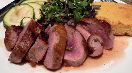 recette magret de canard au barbecue au vinaigre de framboise et au miel